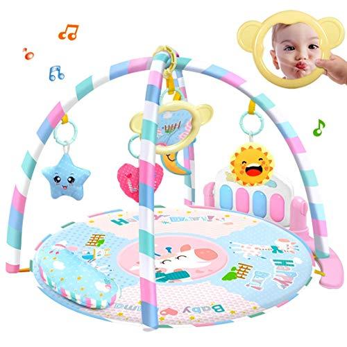 Spielmatten/Umzugsraum/Klavier/Musikaktivitäten, Baby-Früherziehung Pedal Klavier/Fitness Decke/Infant Entertainment Gym,Pink ()