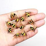 Tofree 10PCS Simulierte Bee Angeln Köder Fly Künstliche Fliegen Köder Angeln Zubehör