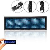 RUNGAO Mini-LED-Anzeige, digital, programmierbar, wiederaufladbar blau
