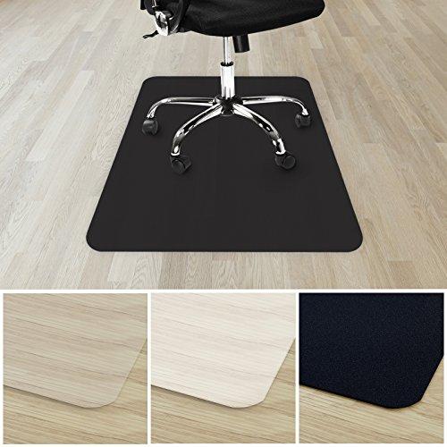 etm® Bodenschutzmatte für Hartboden | verschiedene Farben | 100% ohne BPA & Phthalate - Geruchsfrei | Bürostuhlunterlage für zuhause und im Büro | viele Größen (schwarz - 90x120 cm) -