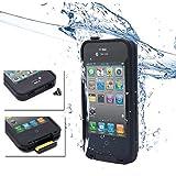 Réduction pour Prime Day: Aursen Fré 2004-01 Coque anti-choc et waterproof imperméable pour iPhone 4/4S Noir