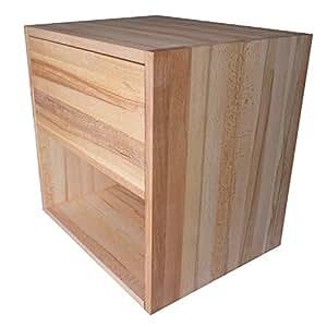 chev t cube de rangement avec tiroir en bois de h tre massif huil cuisine maison. Black Bedroom Furniture Sets. Home Design Ideas