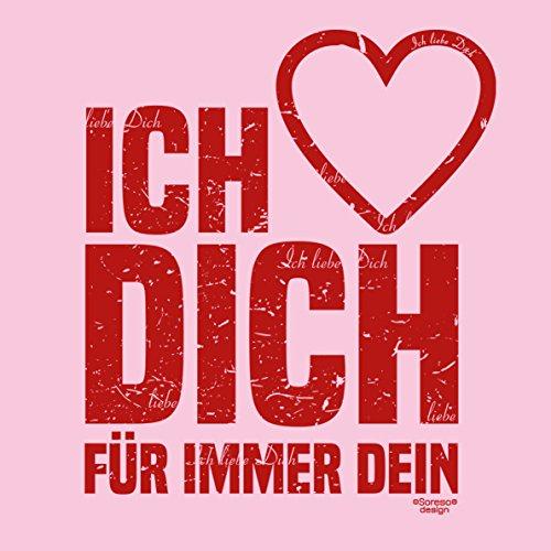 Geschenk zum Valentinstag für Sie T-Shirt coole Geschenkidee Geburtstag Ich liebe Dich Valentinstagsgeschenk Frauen Farbe: rosa Rosa