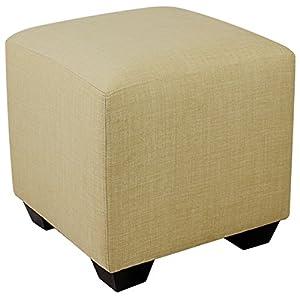 Sitzwürfel Sitzhocker Hocker Gepolstert Beige – 2001A/2486