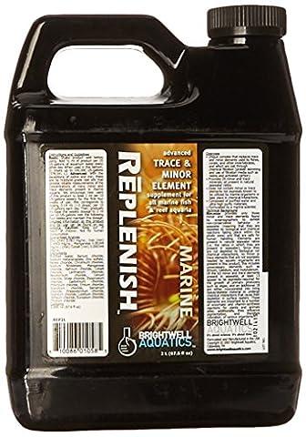 Brightwell Aquatics ABAREP2L Replenish Liquid Salt Water Conditioners for Aquarium, 67-Ounce