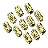 Gazechimp 10pcs M6 / M8 Schnittstellenschrauben Gewinde Gewindemuffe Bolzen Nüsse Befestigungsmöbel für Holzmöbel Holz Einsatz - M6 * 15