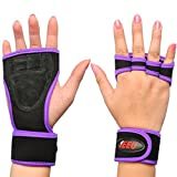 SEEU Damen Krafttraining Handschuhe, Lila, S