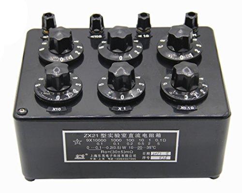 NEWTRY ZX21 Series Drehwiderstand, variabel, Gleichstrom, einstellbarer Widerstand, Schalter, für Labor, 0,1 Ω bis 111,1110 MΩ - ZX21B Ω-serie