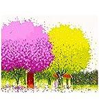 GUOXIN12 Marco Flores DIY Pintura por números Kits Pintura acrílica sobre Lienzo Pintado a Mano Pintura al óleo para la decoración casera Artes de Pared DIY Enmarcado 40X50 CM Actividades creativas