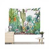 Miguor Dacron Stoff Kaktus, Sukkulenten, Tapisserie, Strandtuch, Strandtuch, Wohn-Dekoration, 9.yellow Cactus, 200 * 150cm