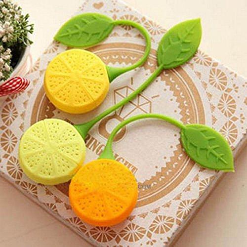 IDEA HIGH 1pc Orange Citron Design Loose Leaf Passoire Infuser Filtre Outils Feuille Passoire