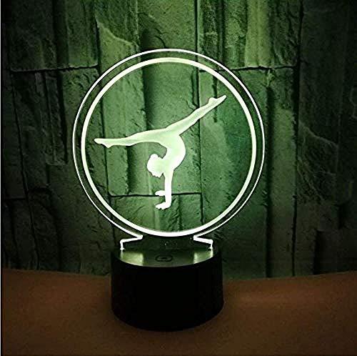Nachtlicht Ballett 3D Licht Farbe Vision 3D Illusion 3D Geschenk Nachtlicht Innenlicht Fernbedienung Licht -
