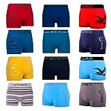10er Pack L&K Herren Boxershorts Unterwäsche Microfaser Gemischt Farben/Muster YHUVA3 Gr. L/XL