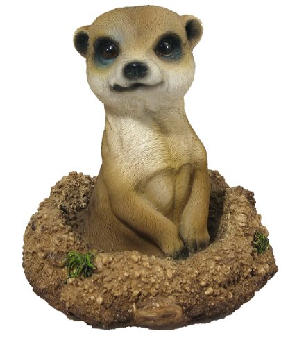 Image of Vivid Arts Meerkat 'Poking Out From Burrow' Statue