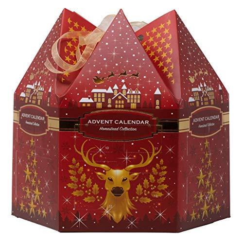 Liberty Candle Adventskalender rot Duftkerzen enthält 6 Votivkerzen und 18 Teelichter -