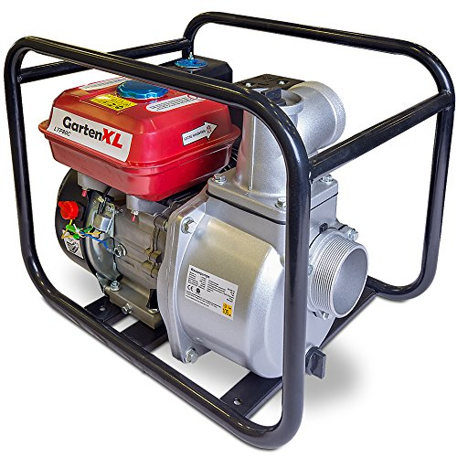 """GartenXL 3\"""" Benzin Wasserpumpe LTP80C 60.000 L/h 6,7PS 208ccm Benzinmotor Gartenpumpe Motorpumpe Schmutzwasserpumpe Teichpumpe"""