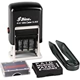 Shiny S-303 Self Inking Stamp 4 in 1 Mini 3mm Dater Rubber Stamp