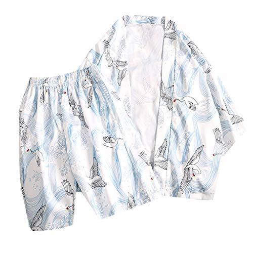 Setsail Mode-Liebhaber Individualität Print Top Bluse Kimono Hot Spring Kleidung Zuhause Anzug -