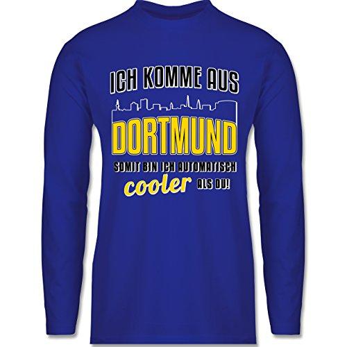Shirtracer Städte - Ich Komme Aus Dortmund - Herren Langarmshirt Royalblau