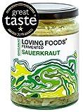 Loving Foods Award-Winning *Organic* Sauerkraut (500g) Raw, Unpasteurised & Bursting with Beneficial Live Bacteria (1 x Jar)