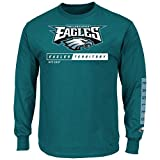 Philadelphia Eagles Majestic NFL Primary Receiver 2 Long Sleeve Men's T-Shirt