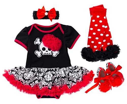 FANCYINN Bebé Niña Tutu Dress Romper Pumpkins Disfraz de Halloween Diadema Calientapiernas Zapatos...
