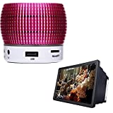 #10: RaptasAluminum Alloy Mini Wireless Portable Bluetooth Speaker Support TF Card MP3 Music and Eyes Protection 3D Screen Magnifier for All Smartphones