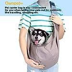 51JaTX9HXfL._SS150_ AGPTEK Ownpets Hundetransporttasche Unterstüzung von 8kg bis zu 10kg Hundetragetuch Single Schulter Sling Bag für Haustier Hund Katze