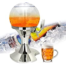 AOLVO Dispensador de Cerveza con Cubo de Hielo, 3,5L Decorativo dispensador para Bar