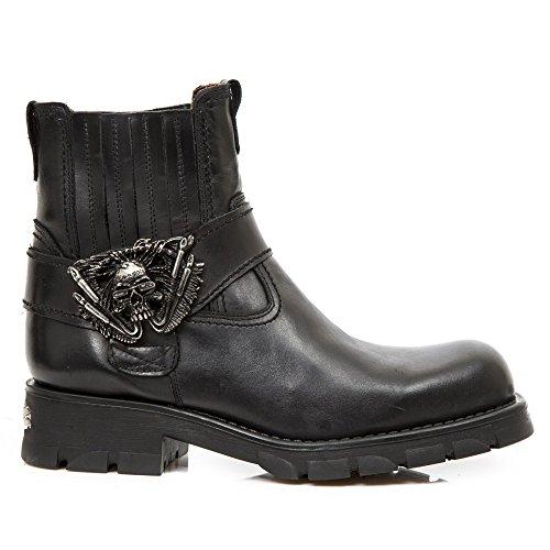 New Rock Motorcyles Schwarz Stiefel M.7633-S1 Black