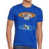 style3 Companion Cube Herren T-Shirt, Größe:XL;Farbe:Blau