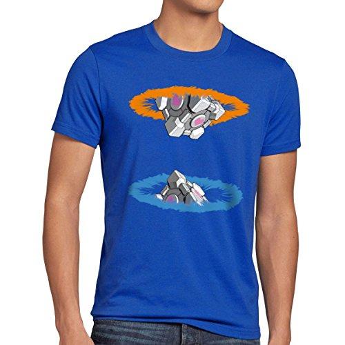 style3 Companion Cube Herren T-Shirt, Größe:M;Farbe:Blau