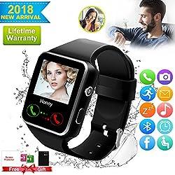 Bluetooth Smartwatch Touchscreen Kamera Wasserdicht Smart Uhr Sport Fitness Smart Watch Mit Whatsapp Handy Uhr Bluetooth Uhr Intelligente Armbanduhr Kompatibel Ios Iphone Andriod Für Herren Damen Kinder