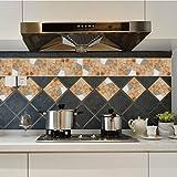 JY ART Wand-Aufkleber Küche Deko Badezimmer-Gestaltung - Küchen-Fliesen überkleben - Dekorative Bad-Gestaltung - Fliesen-Aufkleber TS030, 15cm*15cm