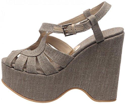 ras, Sandali donna Beige grigio pietra, Beige (grigio pietra), 39