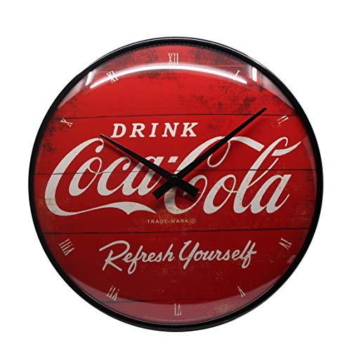 Nostalgic-Art 51074 Coca-Cola - Logo Red Refresh Yourself, Wanduhr 31cm