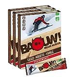 BAOUW Organic Nutrition - CACAO NOISETTE VANILLE - Barres nutritionnelles & énergétiques 100% BIO pour le sport ou un encas sain - vegan - sans gluten - crues - 12 barres x 30g