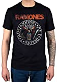 Official Ramones Vintage Eagle Seal T-Shirt Presidential Brain CBGB Hey Ho Road to Ruin Wings