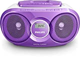 Philips AZ215V CD-Soundmachine (Digital UKW, Audioeingang, 3 Watt, leicht bedienbar) lila