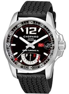 Chopard 168457–3001–Montre pour hommes, bracelet en caoutchouc couleur noir