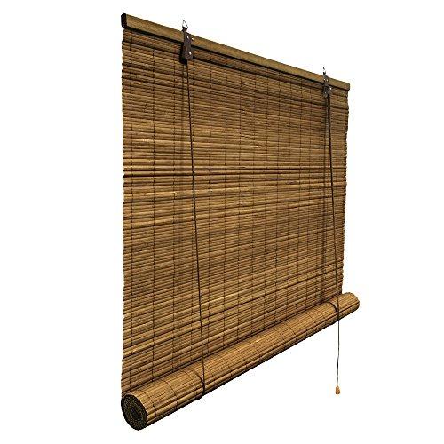 Klemmfix Bambusrollo 60 x 160 cm in braun - Montage ohne Bohren - VICTORIA M