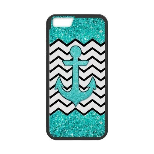 Custom Anchor Chevron cell Iphone 5/5S Case Cover For Ipod Touch 4 Iphone 5/5S PC Iphone 5/5S Teal glitter anchor and chevron with zkali-3744125 at kazli.
