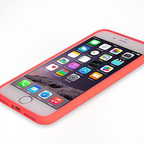 UKDANDANWEI iPhone 7 [Rr] Hülle Case, [ALL DAY] Colorful Jelly Case 360°Outdoor Touch Case Schutz Cover Hülle Handyhülle Silikon kratzfeste stoßdämpfende Case für iPhone 7 Rot ALL DAY-Orange