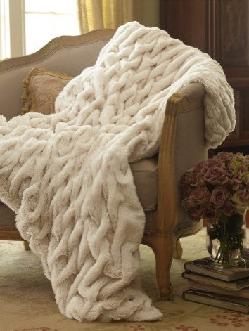 Sofantex Premium Faux Fur Throws (50*60, Faux Rabbit) by LUCY'S LUXURY (Rabbit Faux)
