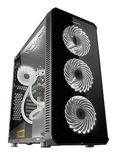 NOX Hummer TGX Torre Negro Carcasa de Ordenador - Caja de Ordenador (Torre, PC, SPCC, Vidrio Templado, ATX,EATX,ITX,Mini-ATX, Negro, Juego)