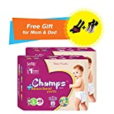 #4: Premium Champs High Absorbent Premium Pant Style Diaper (Pack of 2) (Free pair of Secret and Loafer socks)| Premium Pant Diapers | Premium Diapers | Premium Baby Diapers | anti-rash and anti-bacterial diaper | (Large, 48)