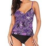 Bfmyxgs Sexy Beachwear für Frauen Damen Plus Größe drucken Tankini Swimjupmsuit Badeanzug...
