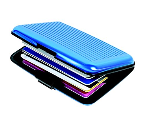 Slim Security Aluminium Credit Debit Card Visiting Card Wallet Cash Holder  available at amazon for Rs.199