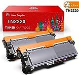 Toner Kingdom 2 Pack compatible Brother TN2320 Cartouche d'encre pour une utilisation dans Brother HL-L2300D HL-L2320D HL-L2340DW HL-L2360DN HL-L2360DW HL-L2365DW HL-L2380DW DCP-L2500D DCP-L2520DW