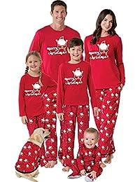 POLP Niño Navidad Ropa niñas Unisex Pijama Bebe Navidad Regalo Estampado de Navidad Manga Larga Vestido